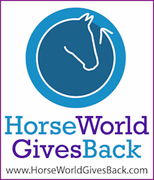 Horse World Gives Back logo